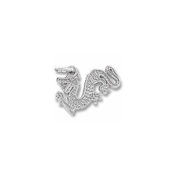 Rembrandt Sterling Silver Dragon Charm – Add to a bracelet or necklace