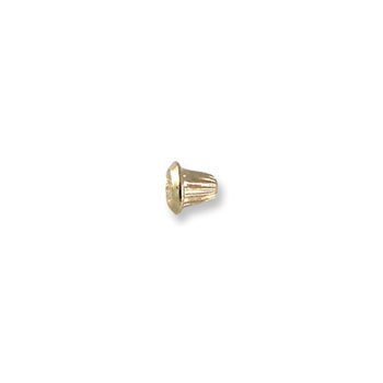 14K Yellow Gold Screw Backing (One Back) - Screw back fits all BeadifulBABY safety threaded screw back posts - One Screw Back - BEST SELLER