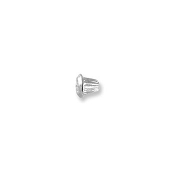 14K White Gold Screw Backing (One Back) - Screw back fits all BeadifulBABY safety threaded screw back posts - One Screw Back
