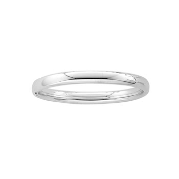 "Fine Baby Bracelets - High Polished Sterling Silver Rhodium Baby Bangle Bracelet - Size 4.5"" (Baby - 2 years) - BEST SELLER"