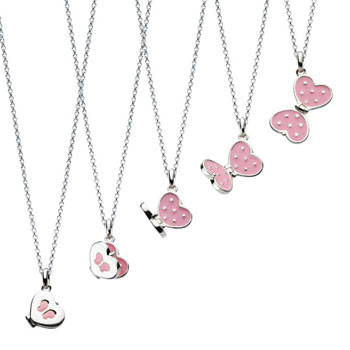 Beautiful Butterfly Heart Locket - Sterling Silver Rhodium Girls Enameled Butterfly Locket Necklace - Includes 14-inch chain